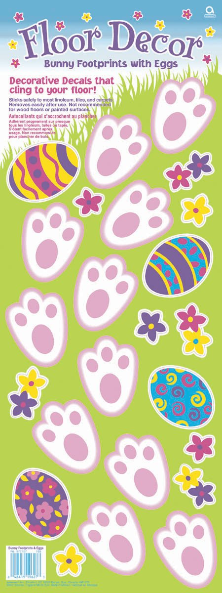 Bunny Footprints and Egg Decals