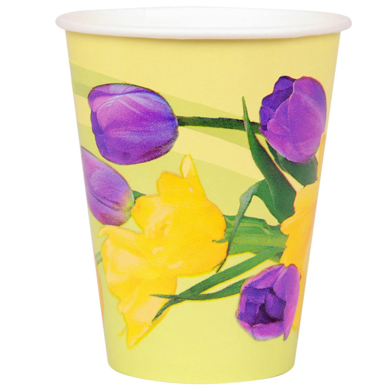 Tulips 9 oz. Paper Cups (8 count)