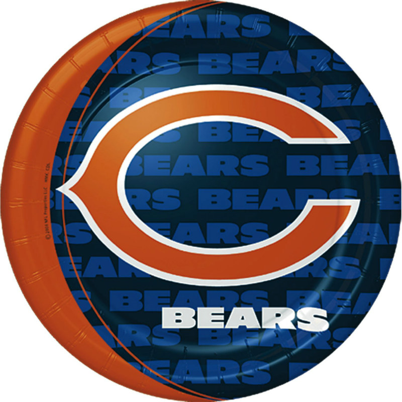 Chicago Bears Dinner Plates (8 count)