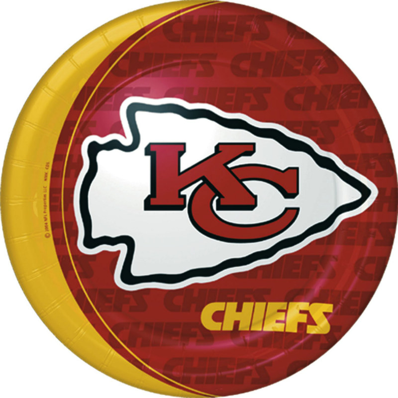 Kansas City Chiefs Dinner Plates (8 count)
