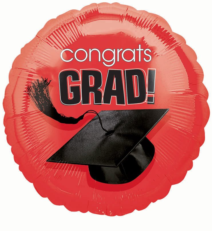 "18"" Apple Red Grad Foil Balloon"