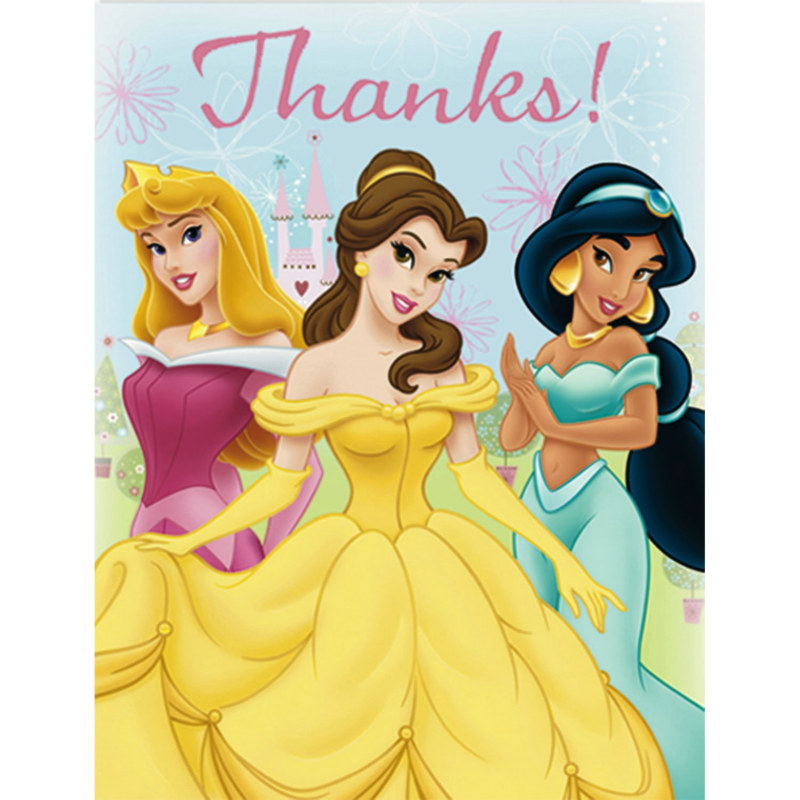 Disney's Princess Fairy Tale Friends Thank You Cards (8 count)