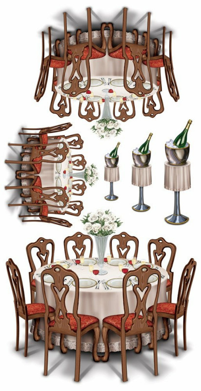Black-Tie Dining Props Wall Add-Ons