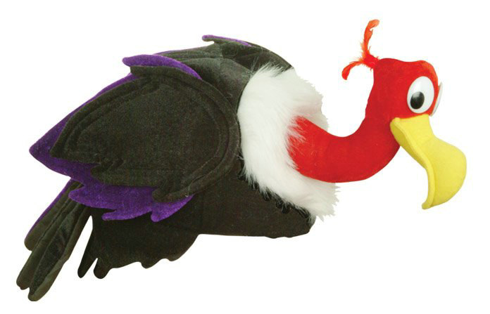 Plush Vulture Hat