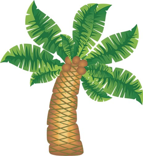 "36"" Jointed Coconut Tree Cutout"