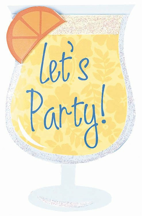Cool Drink Jumbo Invitations (8 count)