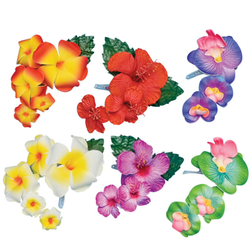 Deluxe Tropical Hair Clip Asst. (1 count)