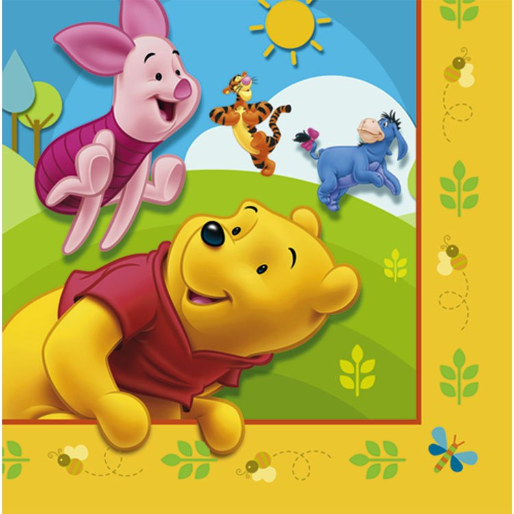 Pooh and Friends Lunch Napkins (16 count)