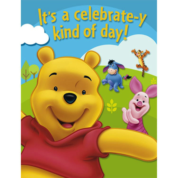 Pooh and Friends Invitations (8 count)