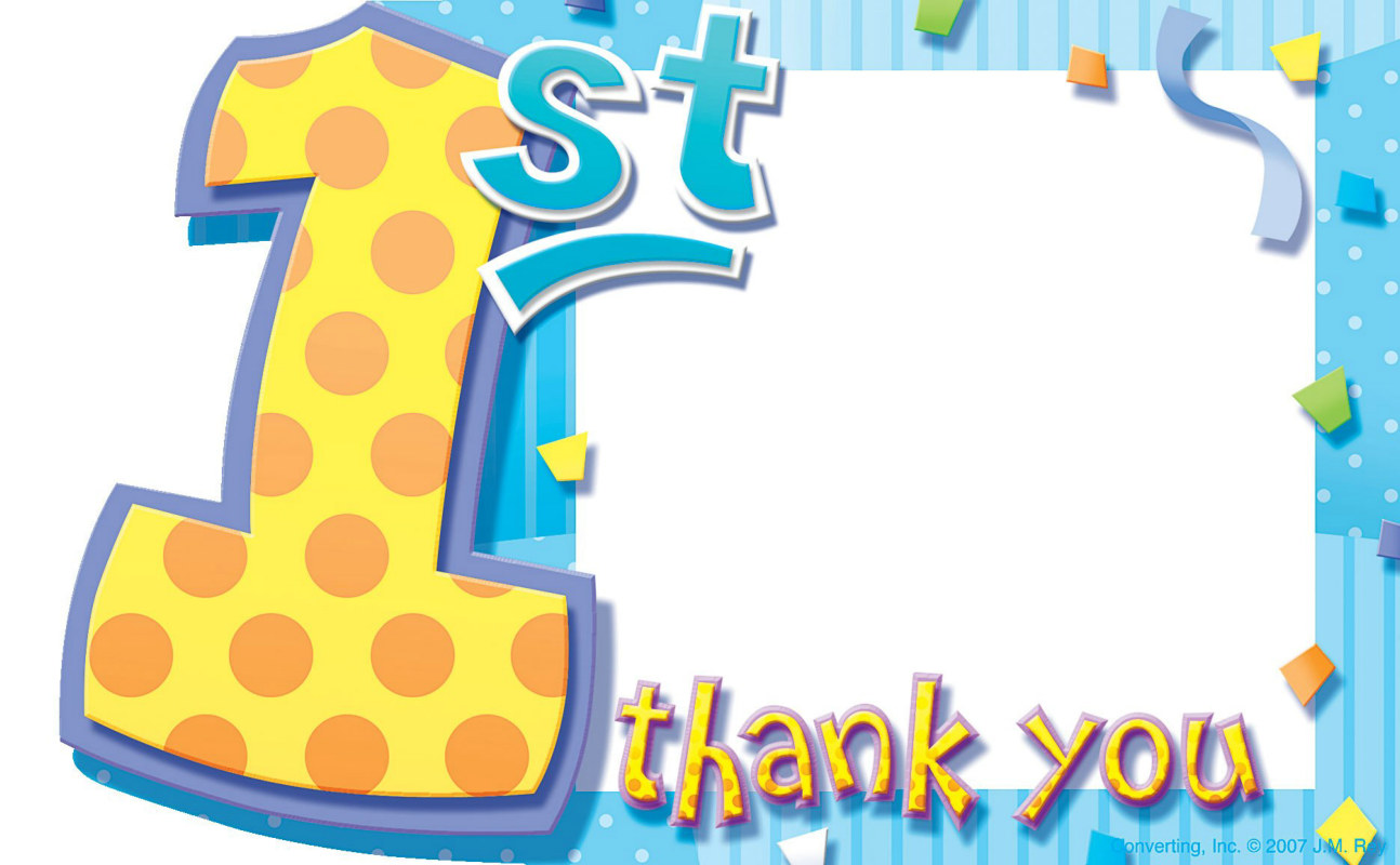 My 1st Birthday Blue Thank You Cards (8 count)