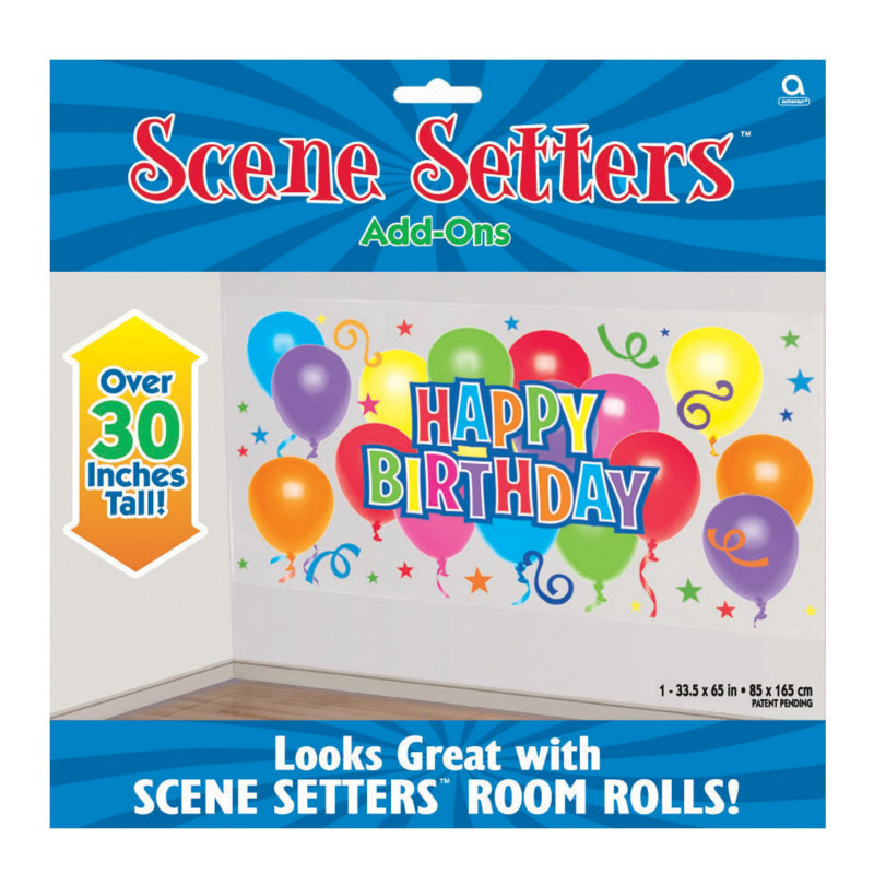 5' Happy Birthday Balloons Add-On