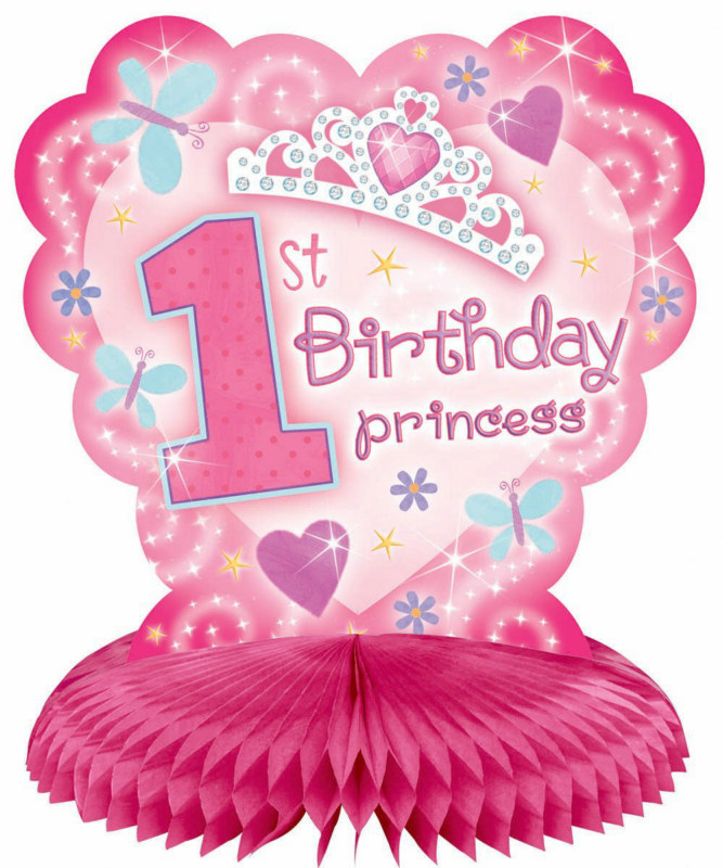 1st Birthday Princess Honeycomb Centerpiece