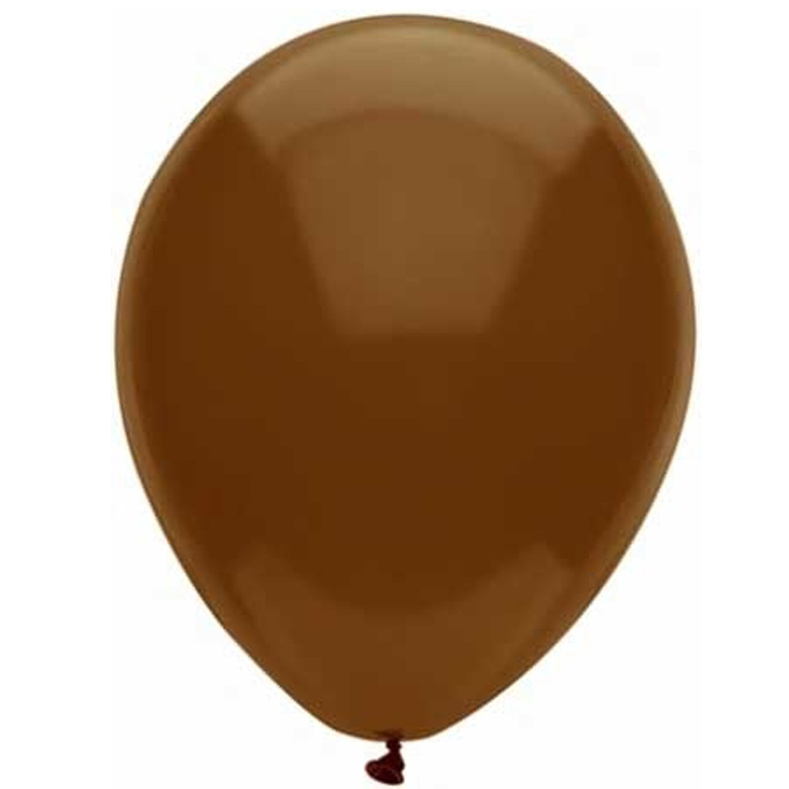 "Chestnut Brown 12"" Latex Balloons (6 count)"