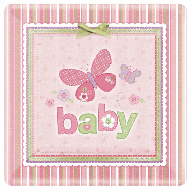 Carter's Baby Girl Square Dinner Plates (8 count)