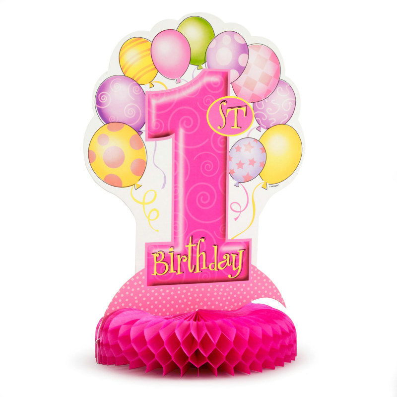 My 1st Birthday Pink Centerpiece