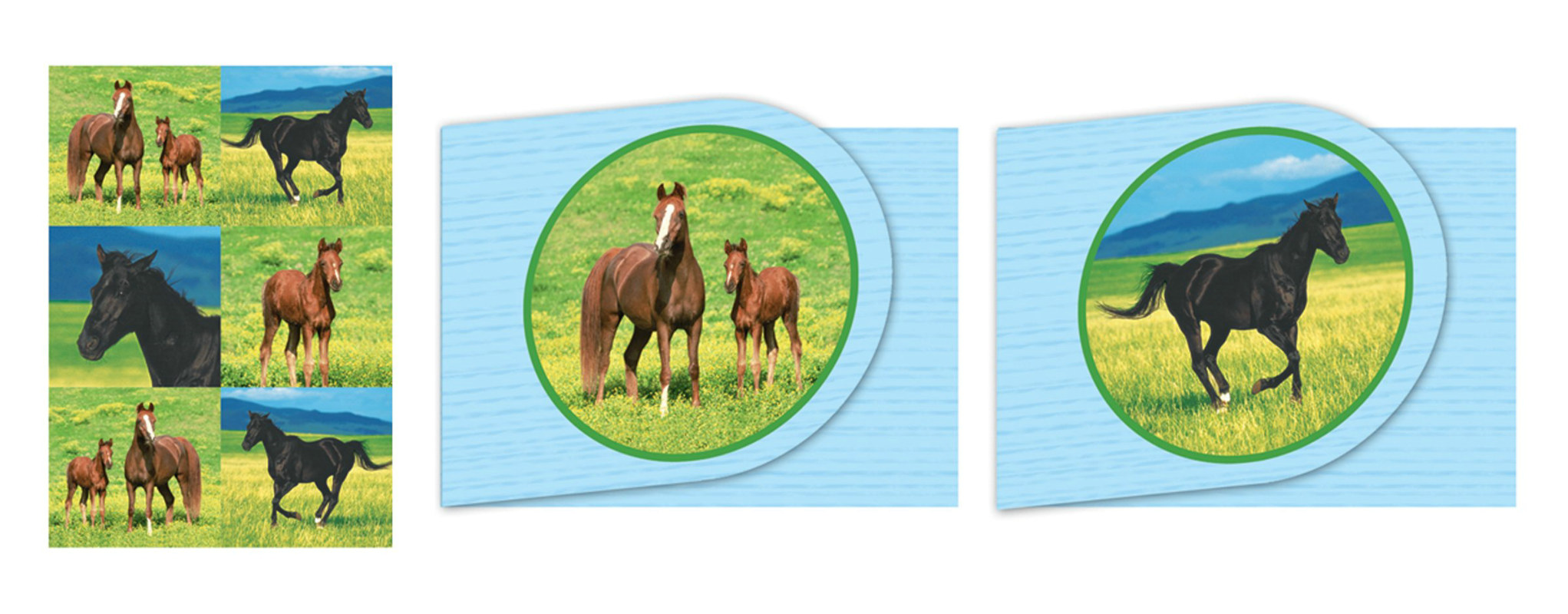 Wild Horses Notepads with Stickers Asst. (4 count)