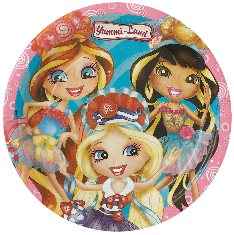 Yummi-Land Dinner Plates (8 count)