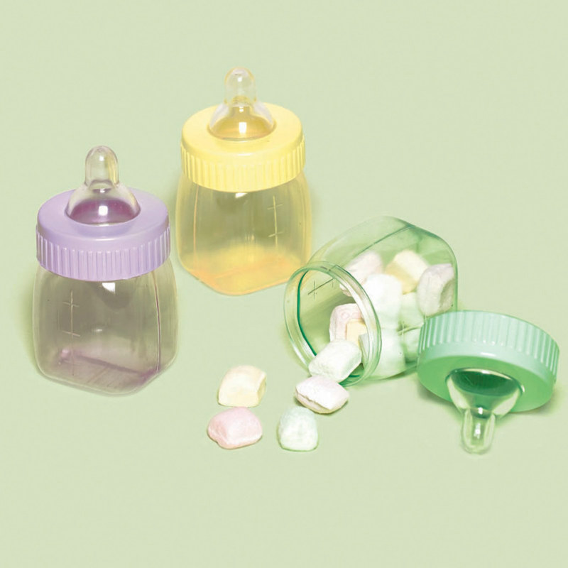 Baby Bottle Favor Containers Asst. (6 count)