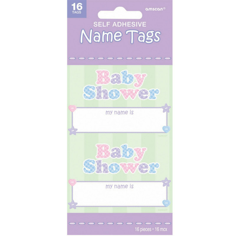 Baby Shower Name Tags (16 count)