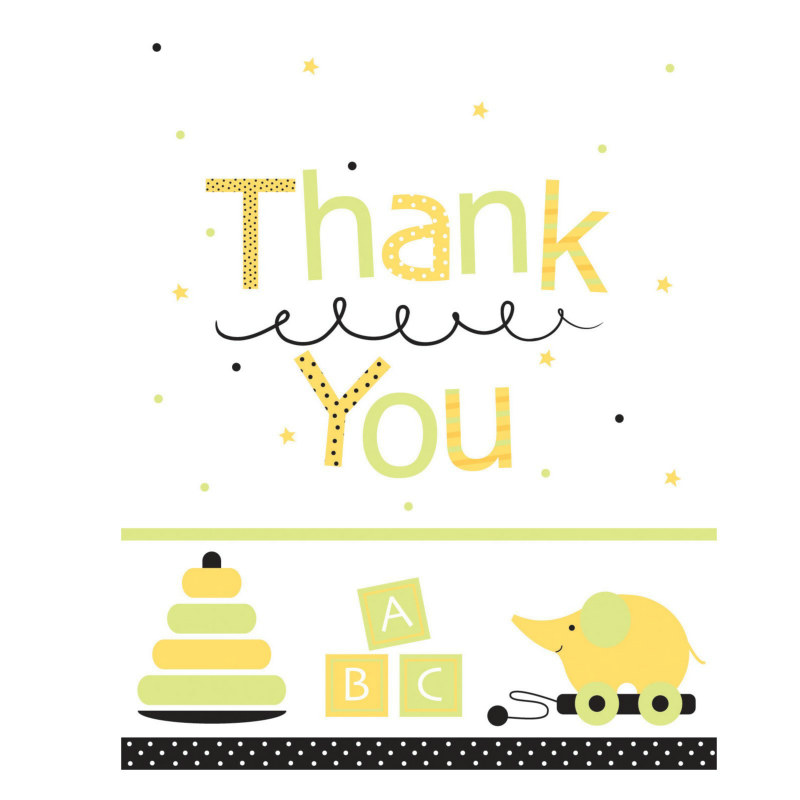 Stroller Fun Thank You Cards (8 count)