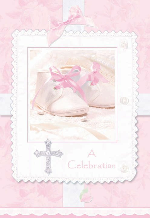 Tiny Blessing Pink Invitations (8 count)