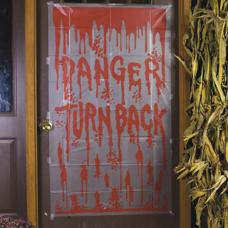 5' Bloody Warning Door Cover