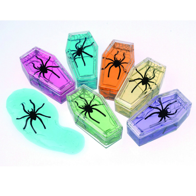 Coffin Shape Slime with Spiders Asst. (1 count)