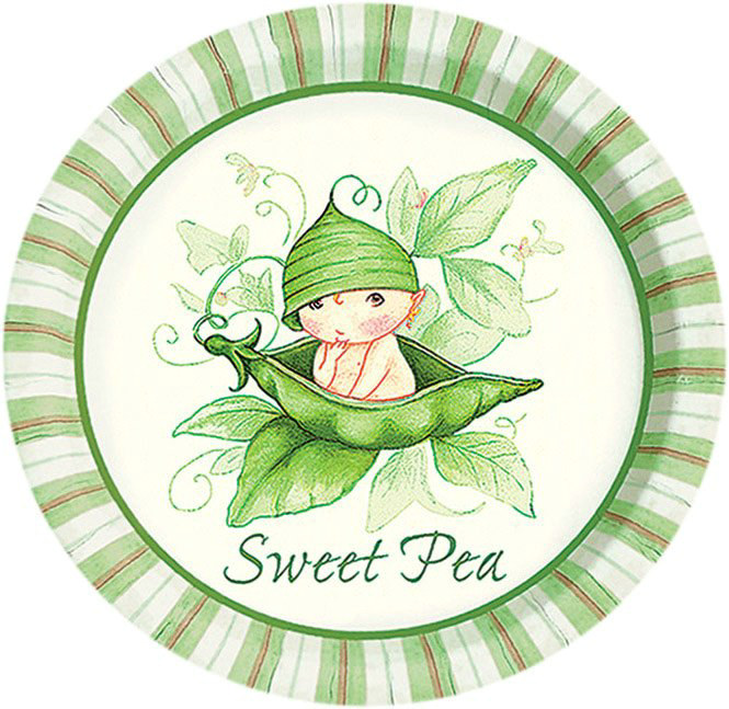 Sweet Pea Dessert Plates (8 count)
