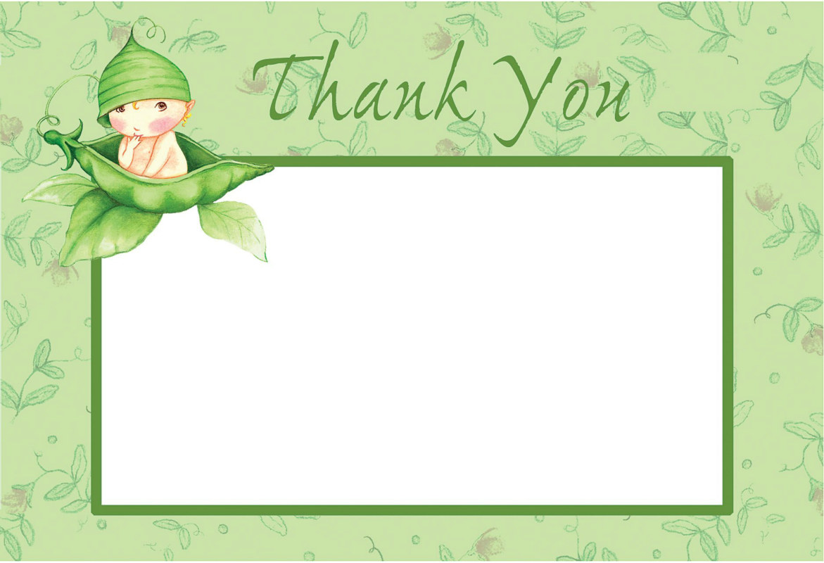 Sweet Pea Thank You Postcards (8 count)