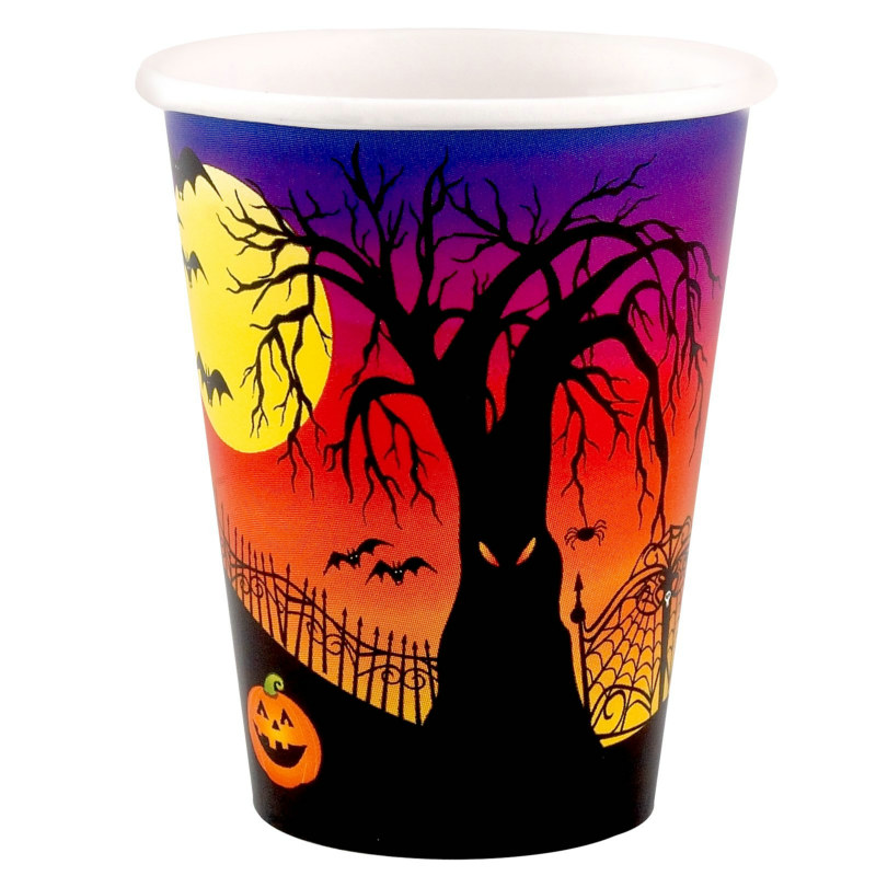 Haunted Hill 9 oz Paper Cups (8 count)