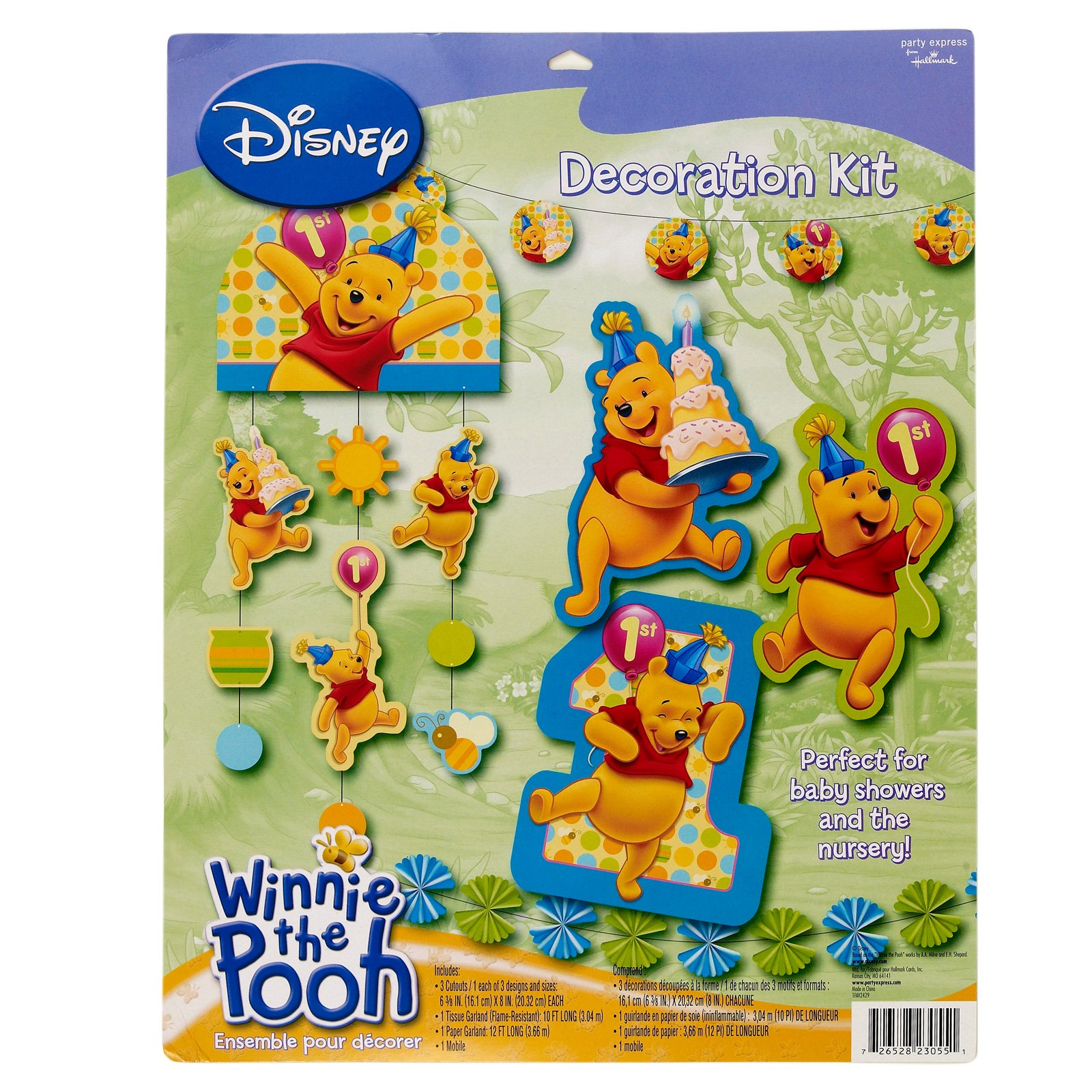 Pooh's First Birthday Decoration Set