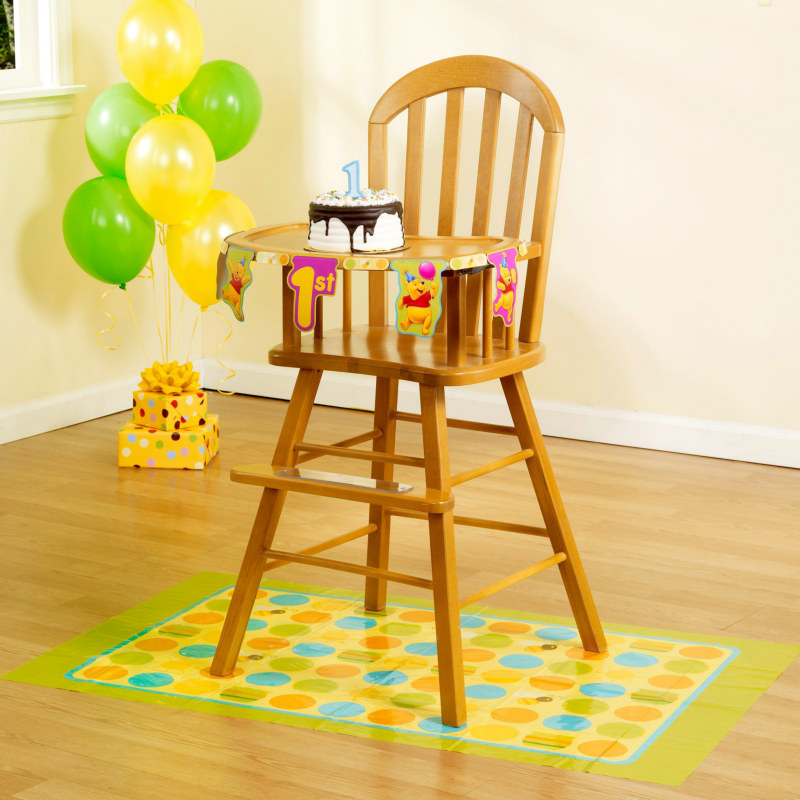 Pooh's First Birthday High Chair Set