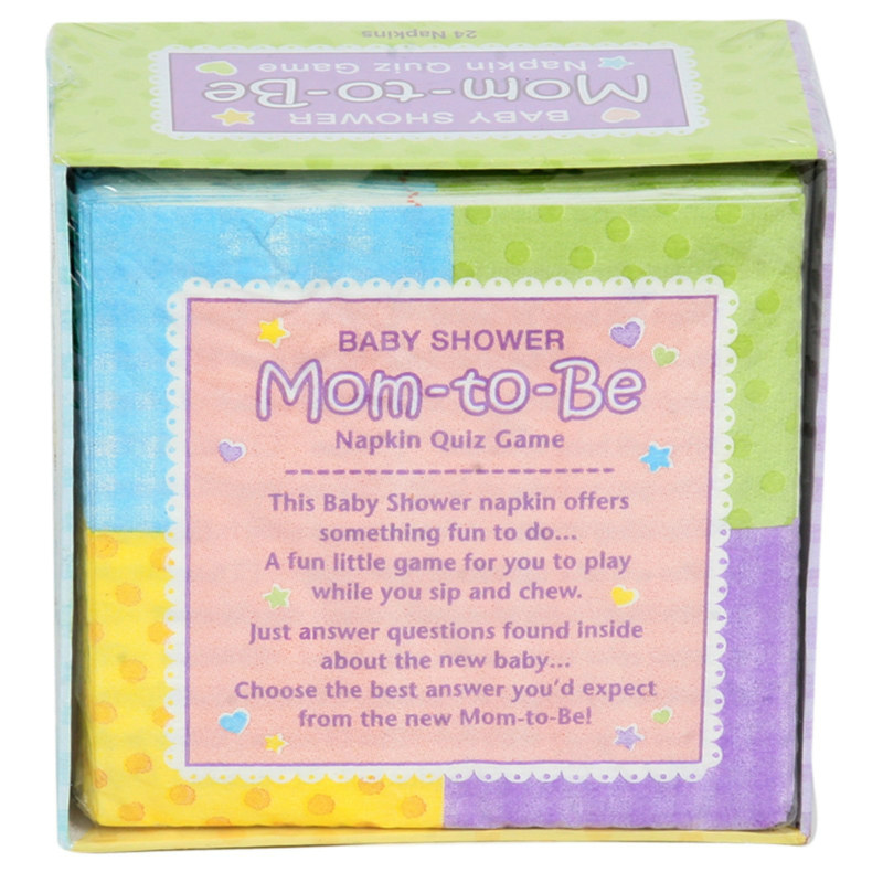 Baby Shower Napkins with Trivia Game (24 count)