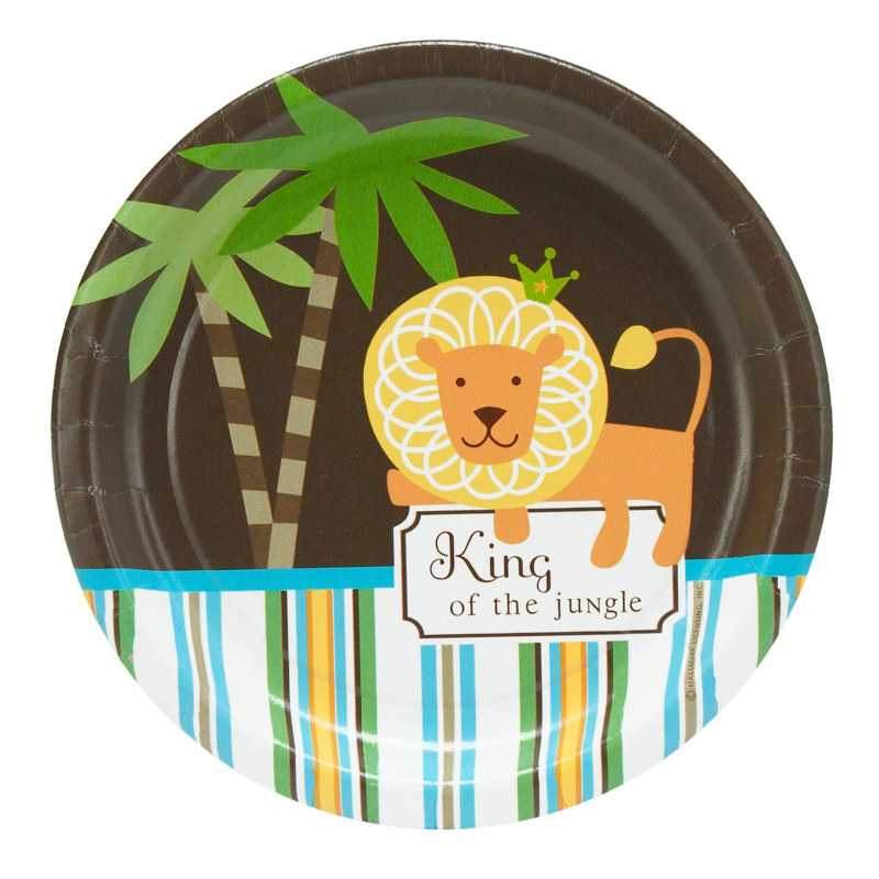 King of the Jungle Dessert Plates (8 count) - Click Image to Close