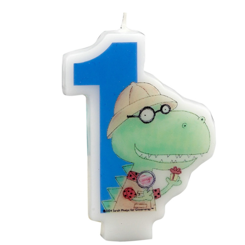 Dinomite 1st Birthday Molded Candle