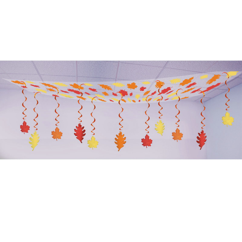 12' Fall Leaf Ceiling Decoration - Click Image to Close