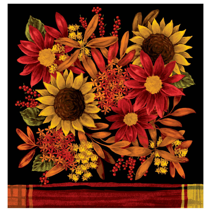 Autumn Floral Plastic Tablecover