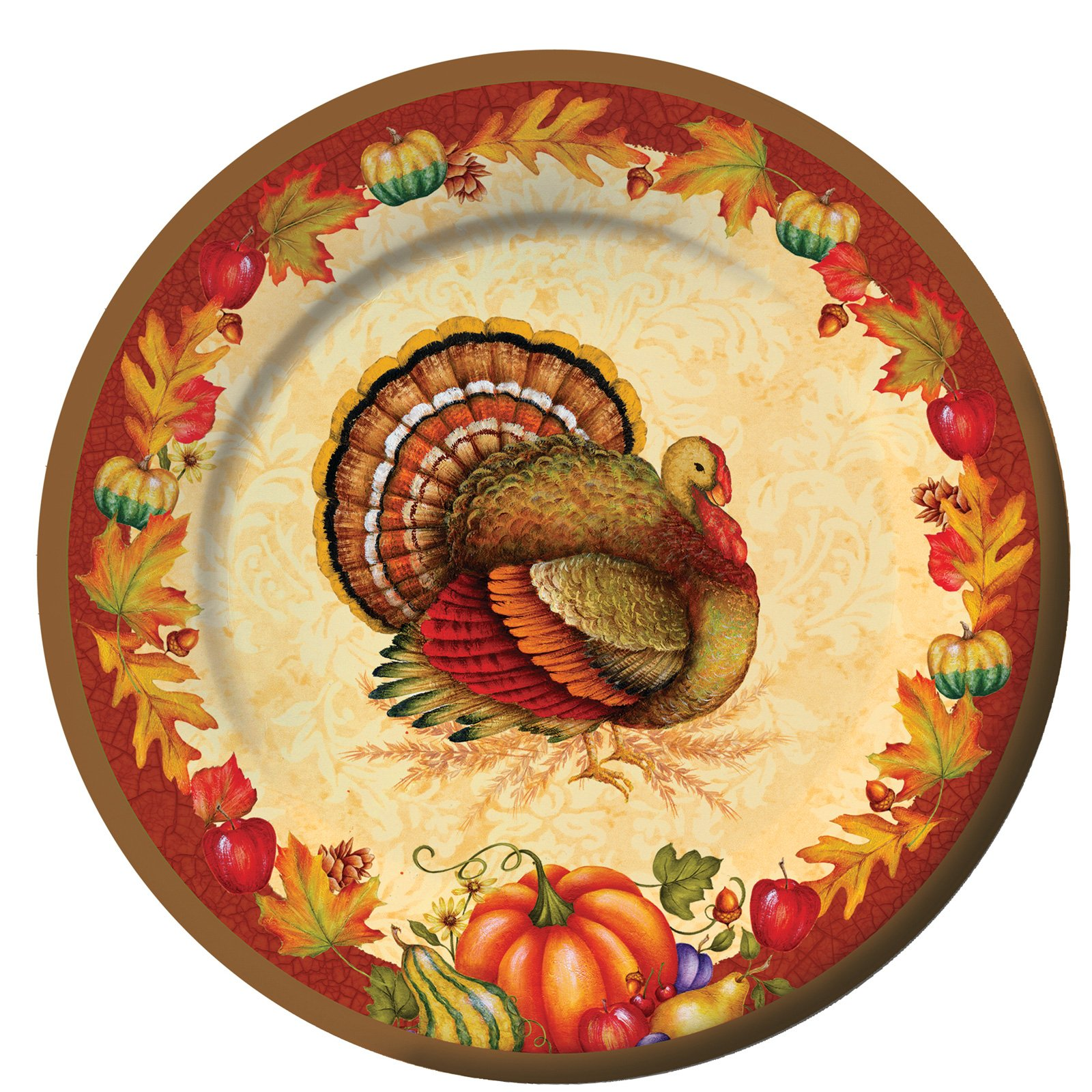 Thanksgiving Blessing Dinner Plates (8 count)