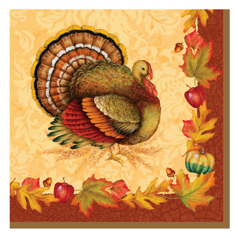Thanksgiving Blessing Lunch Napkins (16 count)