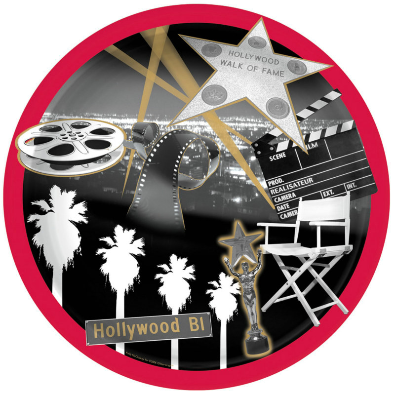 Hollywood Star Dessert Plates (8 count)