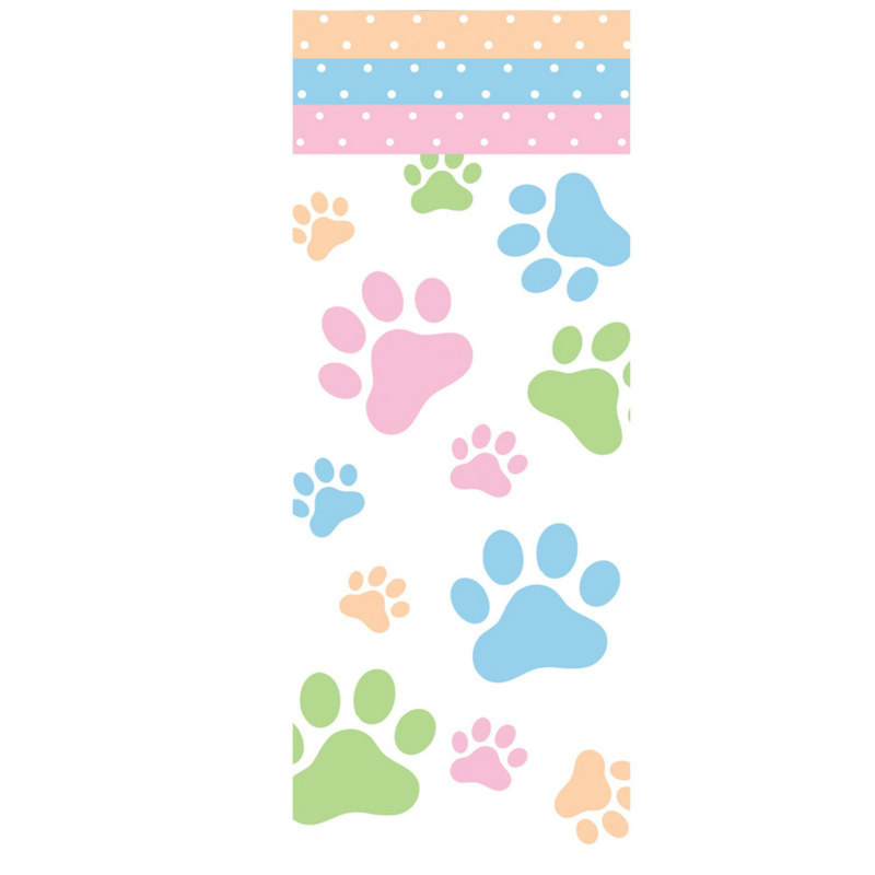Dog Paws Plastic Tablecover