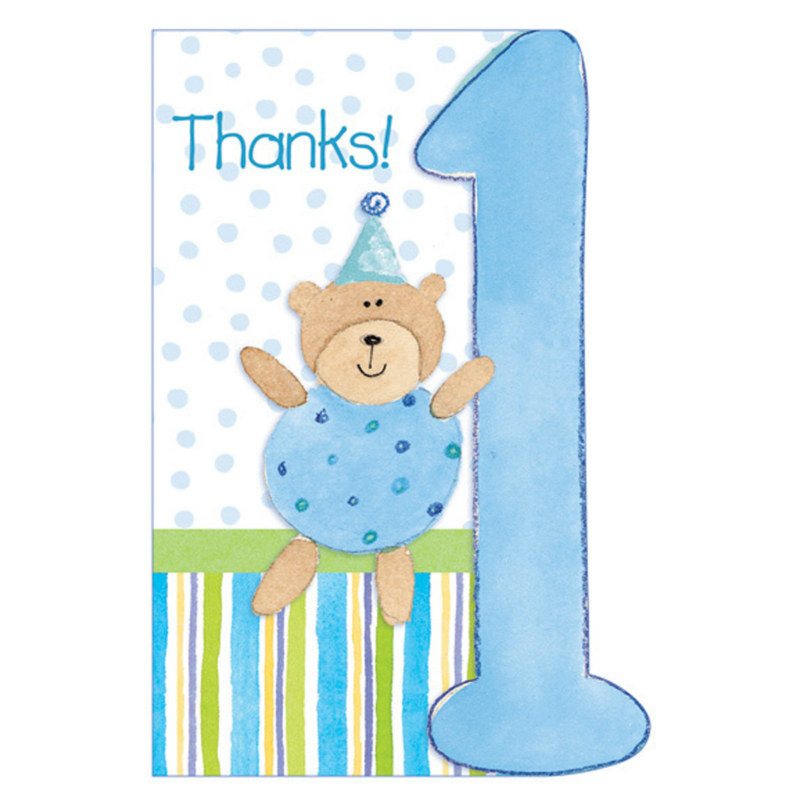 The Big 1 - Boy Thank You Cards (8 count)