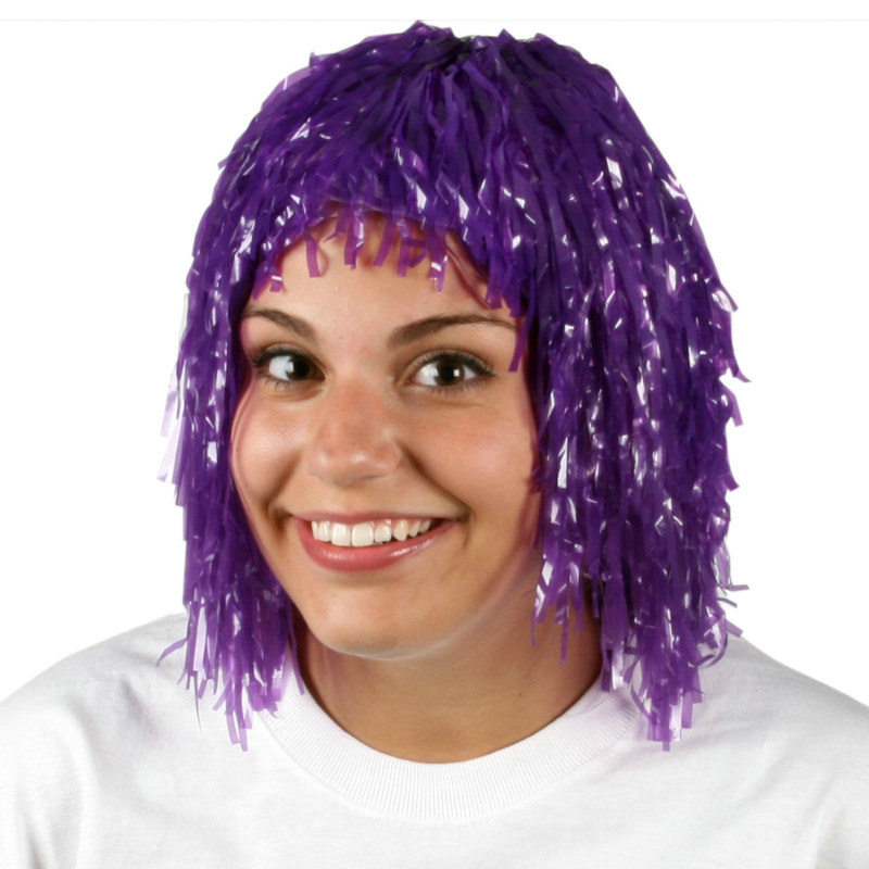 Purple Pom Pom Head Wig