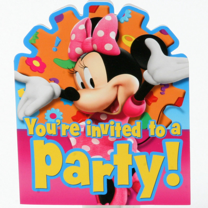 Minnie Mouse Invitations (8 count)