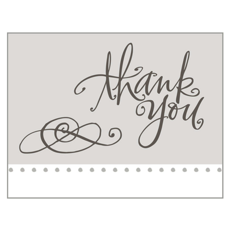 Elegant Thank You Cards (8 count)