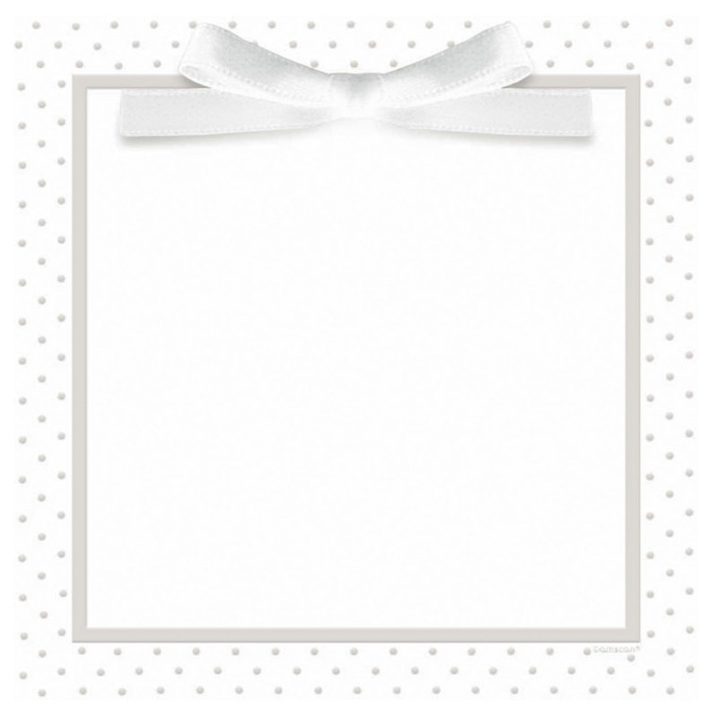 White Dots Imprintable Invitation Set (25 count)