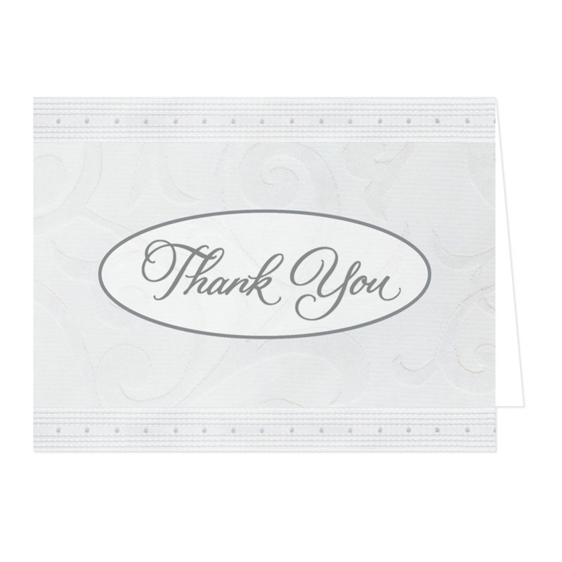 White on White Thank You Cards (25 count)