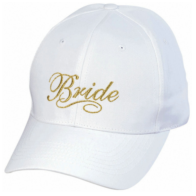 Deluxe Embroidered Bride's Hat