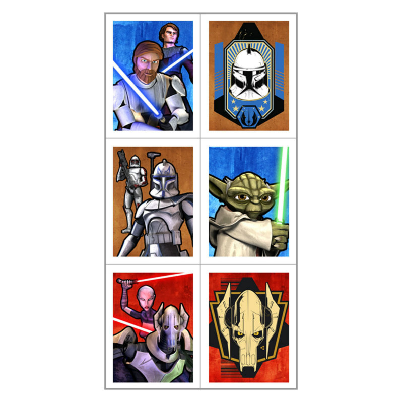 Star Wars: The Clone Wars Stickers (4 count)