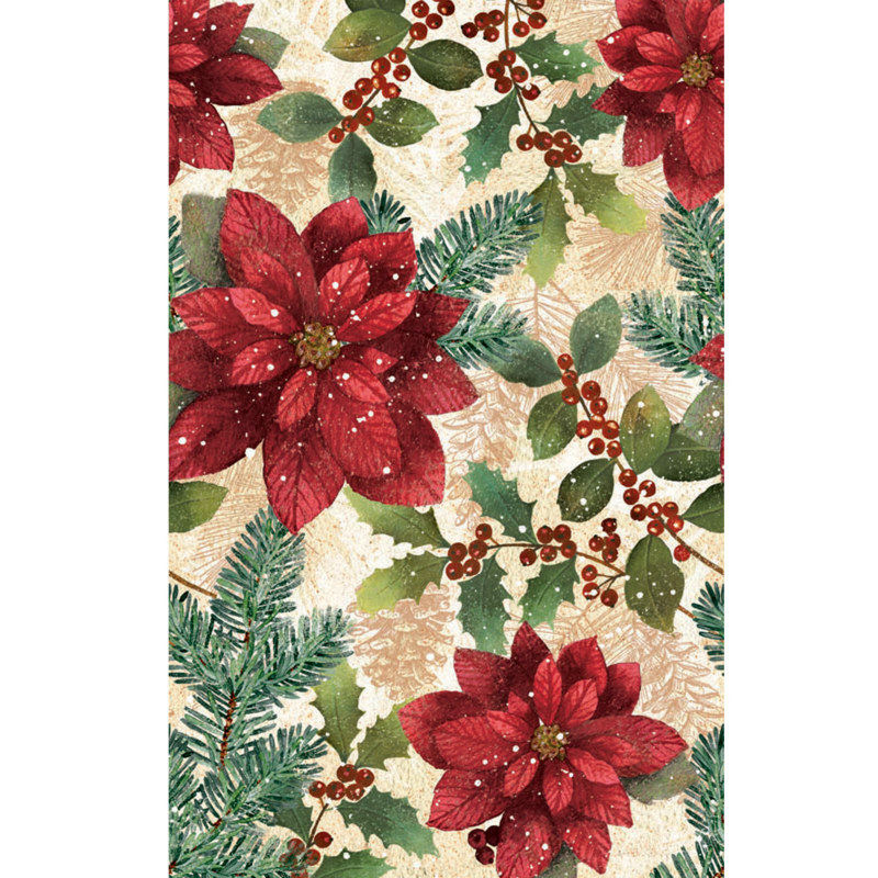 Poinsettia Plastic Tablecover